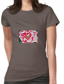 Pink and White Blossom Womens Fitted T-Shirt