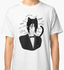 Camiseta clásica Bassy Cat - Black Butler Fan Art