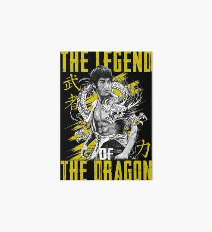 Bruce Lee The Legend of the Dragon on Darks Art Board