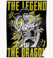 Bruce Lee The Legend of the Dragon on Darks Poster