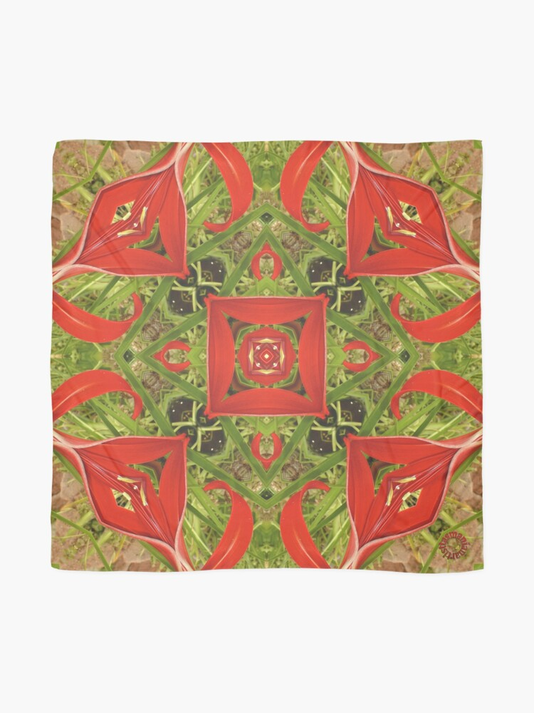 Alternate view of D1G1TAL-M00DZ ~ FLORAL ~ Aztec 8 by tasmanianartist 251218 Scarf