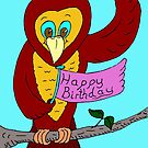 Owl Happy Birthday by Mike HobsoN