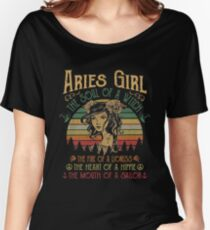 96d68b29 Aries Girl Soul Of A Witch Mouth Of A Sailor Vintage Shirt Relaxed Fit T-