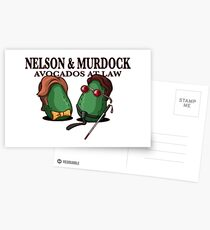 Nelson & Murdock: Avocados im Gesetz Postkarten