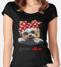 Yorkie Mom T-shirt Women's Fitted Scoop T-Shirt