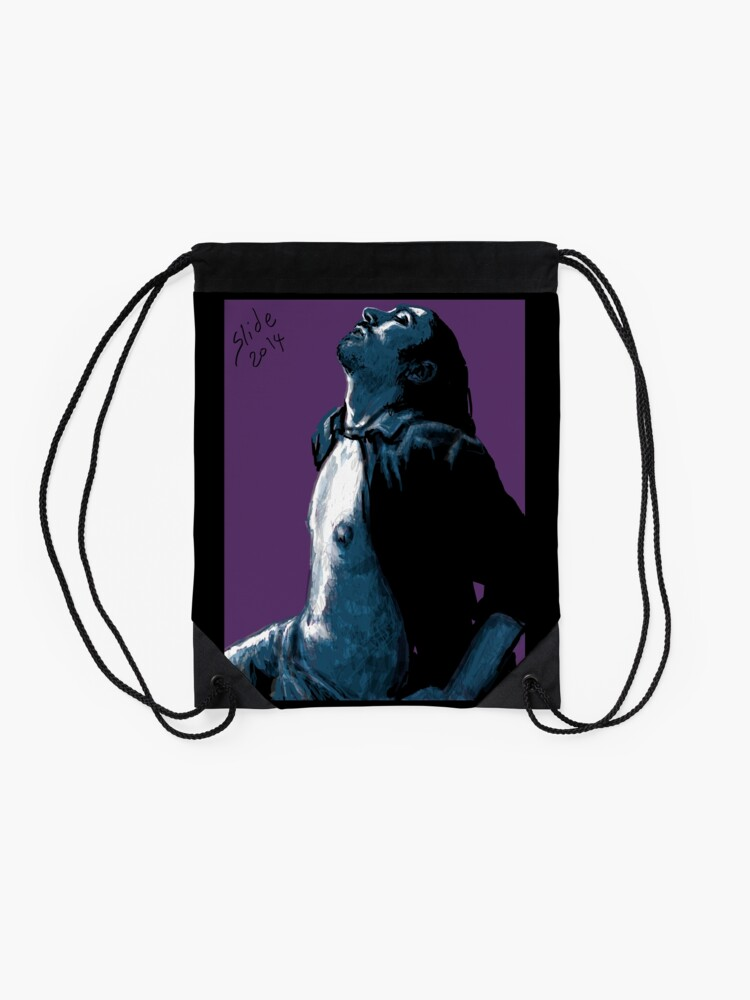 """Alternate view of """"His Chest, 2014"""" Drawstring Bag"""