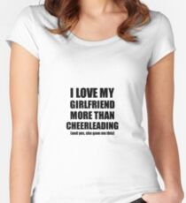 Cheerleading Boyfriend Funny Valentine Gift Idea For My Bf Lover From  Girlfriend Women s Fitted Scoop T 4ffd06b35753