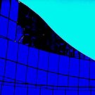 Blue Glass Abstract by schiabor