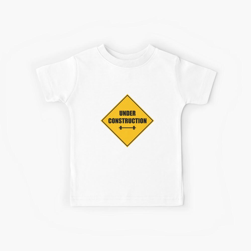 Under construction sign - barbell Kinder T-Shirt