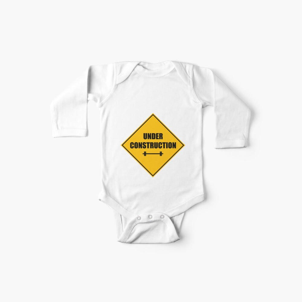 Under construction sign - barbell Baby Body