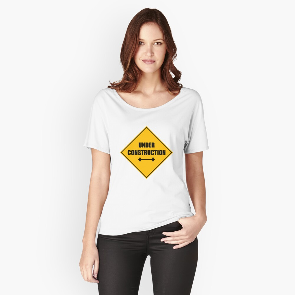 Under construction sign - barbell Loose Fit T-Shirt