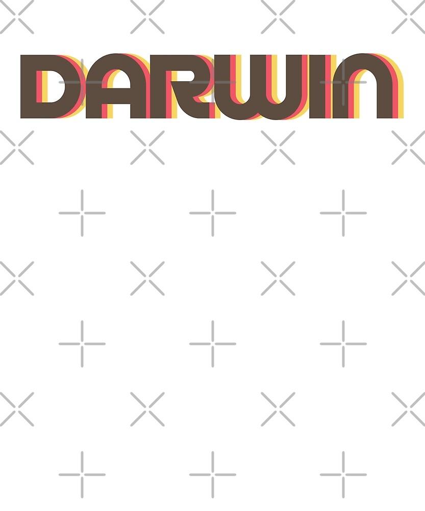 Retro Darwin T-Shirt by designkitsch