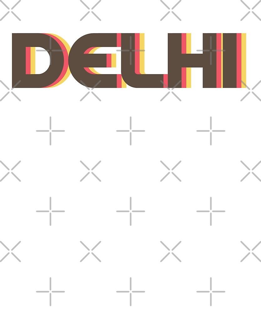 Retro Delhi T-Shirt by designkitsch