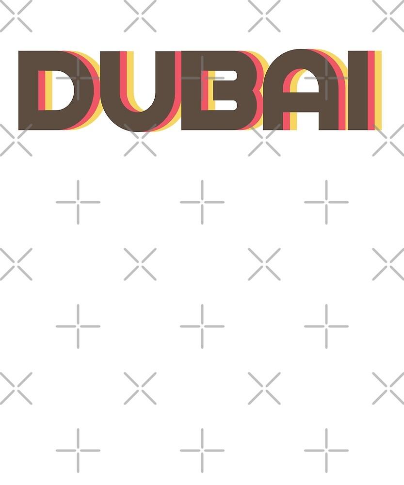Retro Dubai T-Shirt by designkitsch