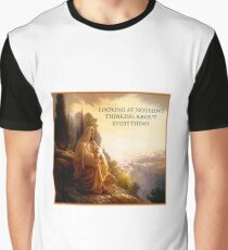LOOKING AT NOTHING THINKING ABOUT EVERYTHING (YISUS) Graphic T-Shirt