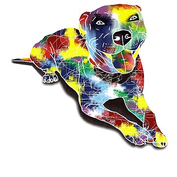 Cute Stylish Colorful Dog T-Shirt by RadTechdesigns
