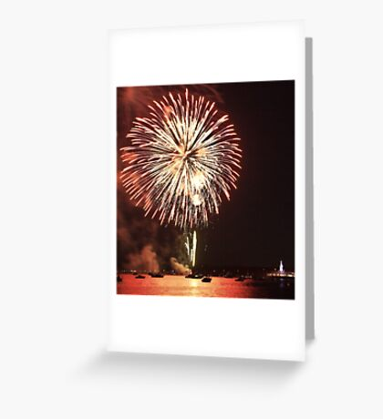 Australia Day Eve fireworks Greeting Card