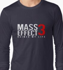 Mass Effect 3 Ruined My Life [Black] Long Sleeve T-Shirt
