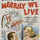 Vintage Hollywood Nostalgia Merrily We Live Film Movie Advertisement Poster by jnniepce