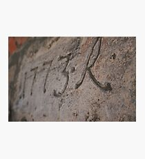 Dated wall, Oslo Fort Photographic Print