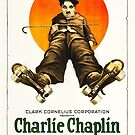 Vintage Hollywood Nostalgia The Rink Charlie Chaplin Film Movie Advertisement Poster by jnniepce