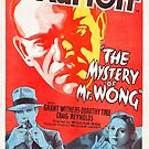 Vintage Hollywood Nostalgia The Mystery of Mr Wong Boris Karloff Film Movie Advertisement Poster by jnniepce