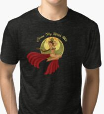 Slave War Pin Up Tri-blend T-Shirt