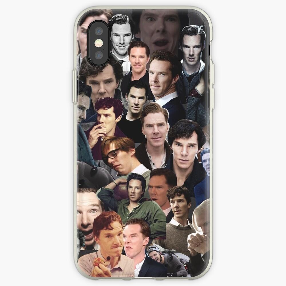 Benedict Cumberbatch-Collage iPhone-Hülle & Cover