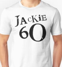 Jackie 60 Classic Black Logo on White  Unisex T-Shirt