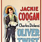 Vintage Hollywood Nostalgia Charles Dickens Oliver Twist Film Movie Advertisement Poster by jnniepce