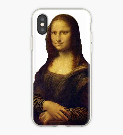 Mona Lisa Grunge iPhone Case