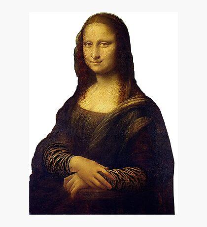 Mona Lisa Grunge Photographic Print