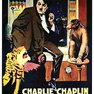 Vintage Hollywood Nostalgia One AM Charlie Chaplin Film Movie Advertisement Poster by jnniepce