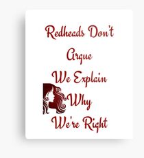 Redheads Dont Argue We Explain Why Are Right Metal Print