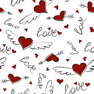 Doodle love pattern by alijun