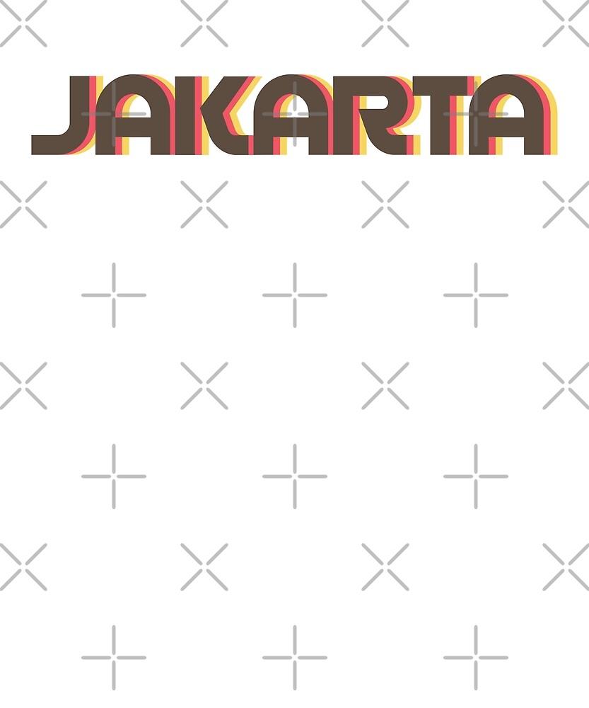 Retro Jakarta T-Shirt by designkitsch