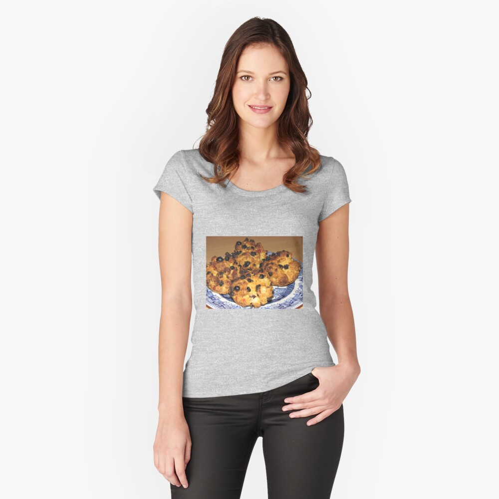 Oven Fresh - Tasty Rock Cakes Women's Fitted Scoop T-Shirt Front