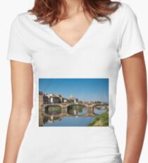 On a sunny afternoon  Women's Fitted V-Neck T-Shirt