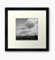 landscape with giants Framed Print