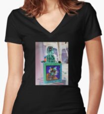 Jack-in-the-Box Women's Fitted V-Neck T-Shirt