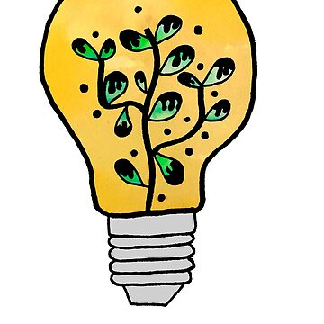 Hippie Plant Lightbulb by alexavec