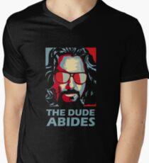 Camiseta para hombre de cuello en v The Dude Abides Man
