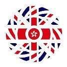 British Hong Konger Multinational Patriot Flag Series by Carbon-Fibre Media
