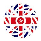 British Hong Konger Multinational Patriot Flag Series by Carbon-Fibre Media
