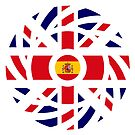 British Spanish Multinational Patriot Flag Series by Carbon-Fibre Media