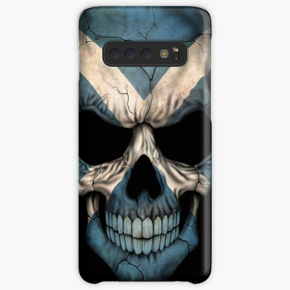 Scottish Flag Skull Case & Skin for Samsung Galaxy