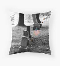 Patriot's Grave Throw Pillow