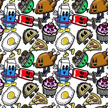 Rad Foods Repeat Pattern  by blakechamberlai