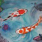 Waterlily Koi Pond by EverIris