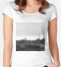 tesla station Women's Fitted Scoop T-Shirt
